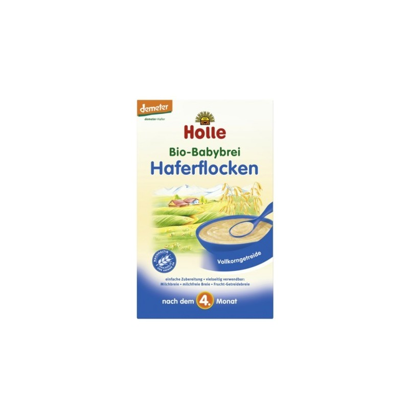 Holle Organic Oatmeal Porridge (4 months +) 250g/8.8 oz - 6 Pack