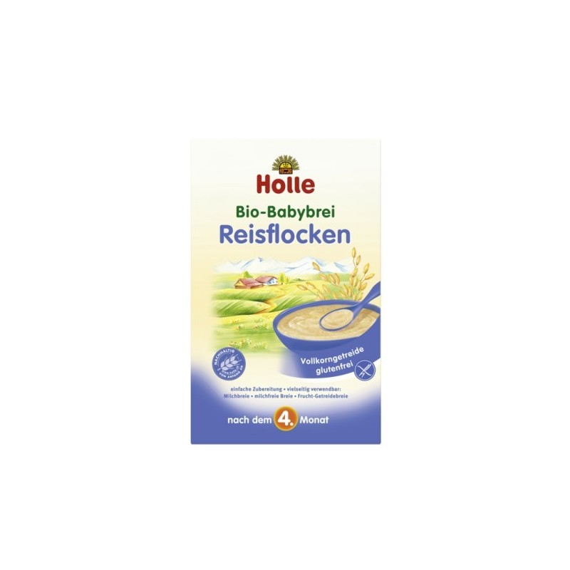 Holle Organic Rice Porridge (4 months +) 250g/8.8 oz - 6 Pack