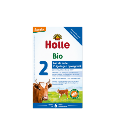 Holle Stage 2 (6 months+) Organic (Bio) Infant Milk Formula (600g/21oz) - 10 Pack