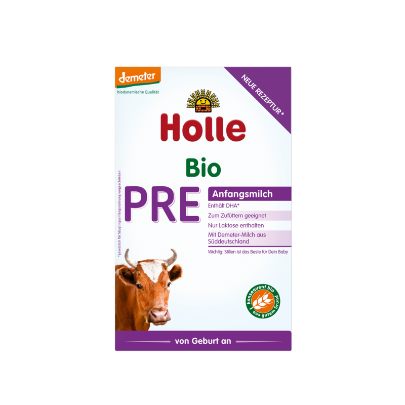 Holle PRE (0-6months) Organic (Bio) Infant Milk Formula (400g/14oz) - 4 Pack