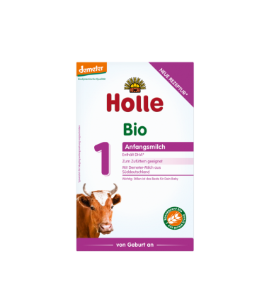 Holle Stage 1 (0-6 months) Organic (Bio) Infant Milk Formula (400g/14oz) - 4 Pack
