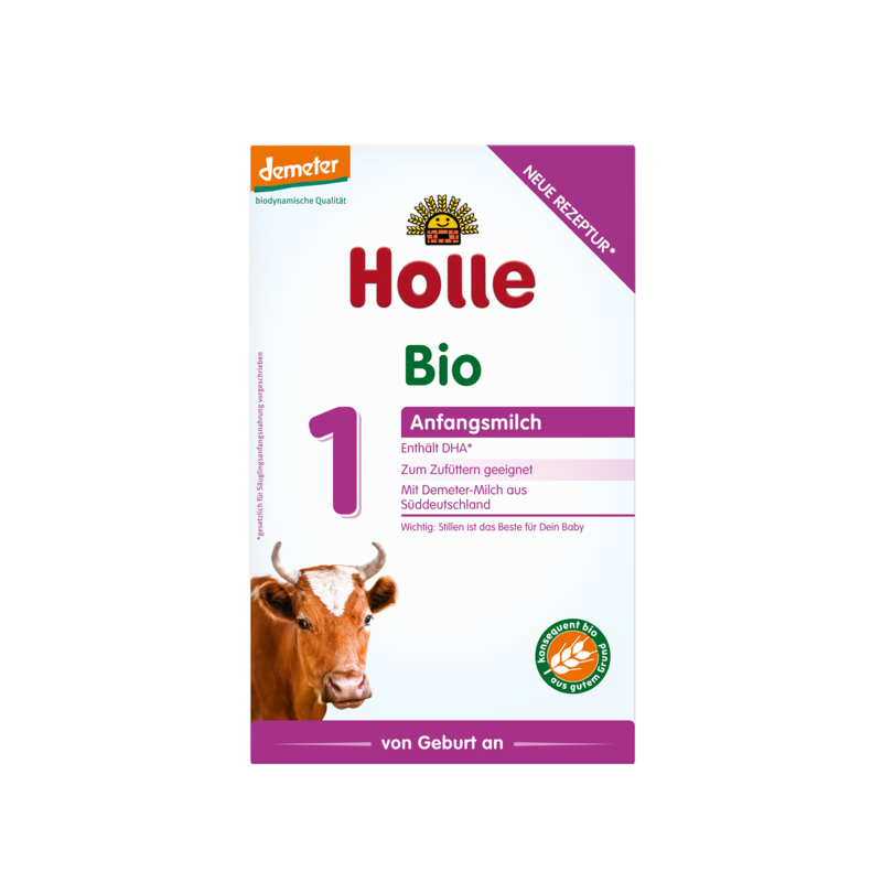 Holle Stage 1 (0-6 months) Organic (Bio) Infant Milk Formula (400g/14oz) - 6 Pack