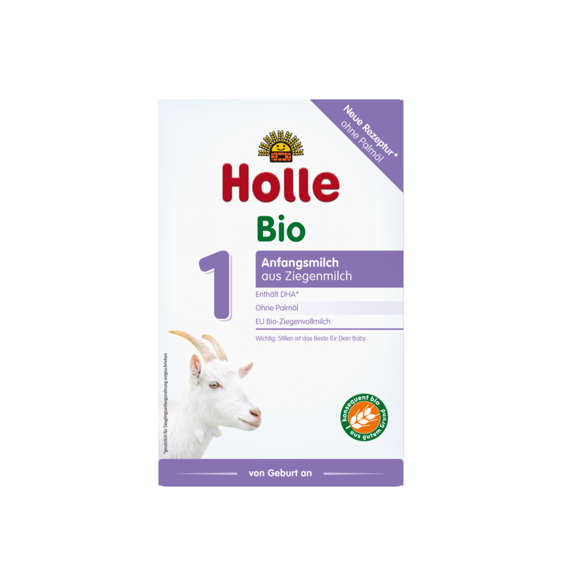 Holle Goat Stage 1 (0-6 months) Organic (Bio) Infant Milk Formula (400g/14oz) - 4 Pack
