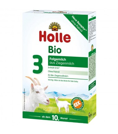 Holle Goat Stage 3 (10 months+) Organic (Bio) Infant Milk Formula (400g/14oz) - 6 Pack