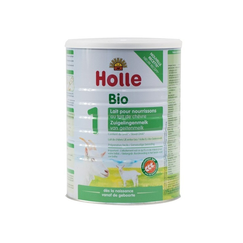Holle Goat Stage 1 (0-6 months) Organic (Bio) Infant Milk Formula (800g/28oz) - 3 Pack - New Size