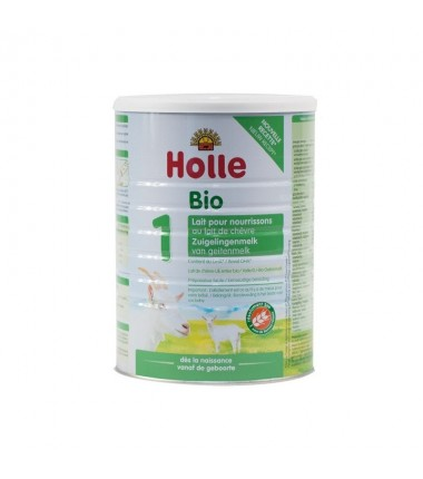 Holle Goat Stage 1 (0-6 months) Organic (Bio) Infant Milk Formula (800g/28oz) - 6 Pack - New Size