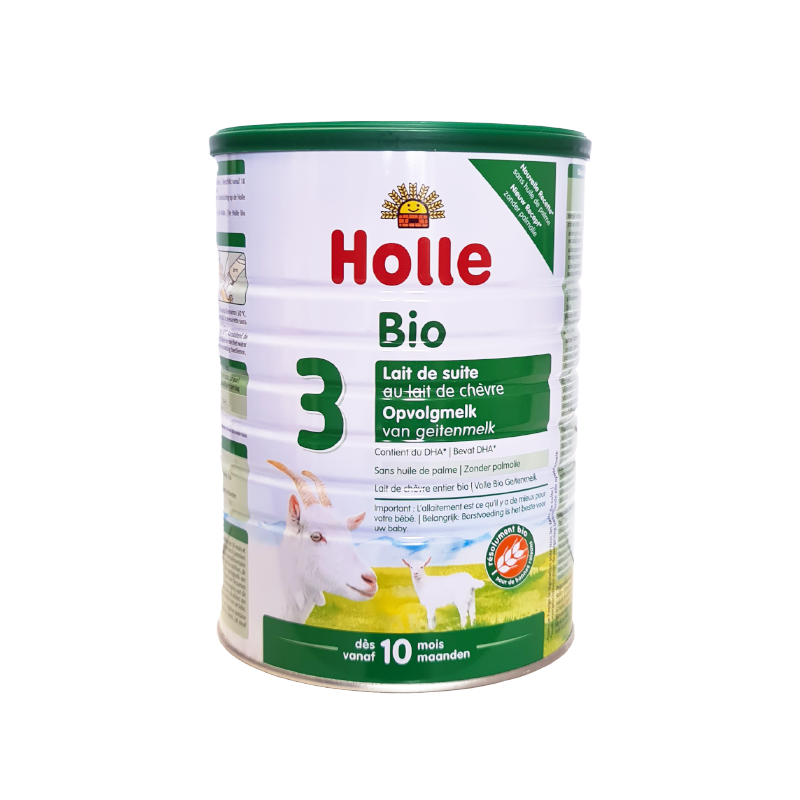 Holle Goat Stage 3 (10 months+) Organic (Bio) Follow On Infant Milk Formula (800g/28oz) - 3 Pack - New Size
