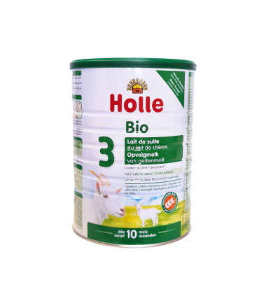 Holle Goat Stage 3 (10 months+) Organic (Bio) Follow On Infant Milk Formula (800g/28oz) - 4 Pack - New Size