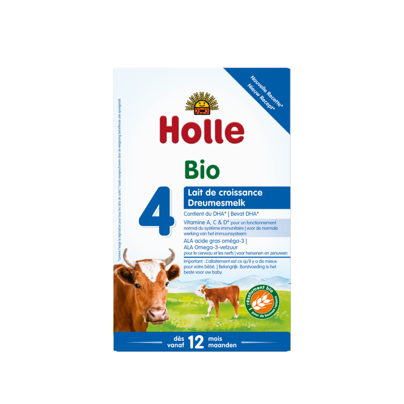 Holle Stage 4 (12 months+) Organic (Bio) Infant Milk Formula (600g/21oz) - 4 Pack