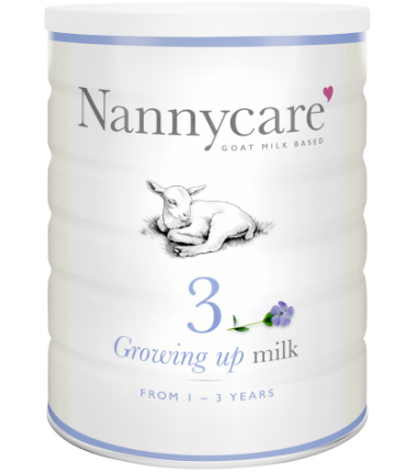 NANNY Care Stage 3 (1-3 Years) Growing Up Goat Milk Formula (900g/32oz) - 4 Pack