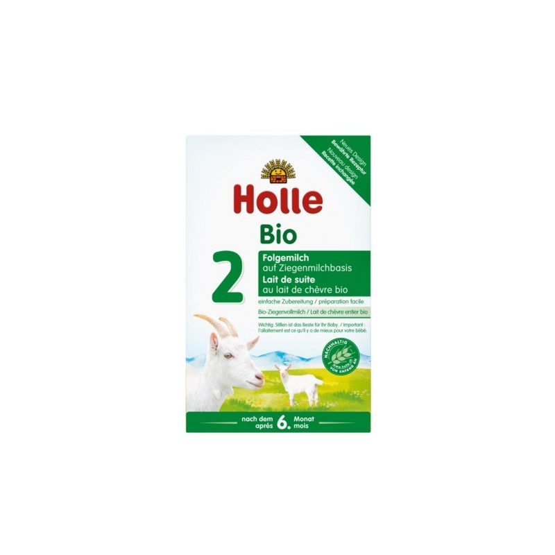 Holle Goat Stage 2 (6 months+) Organic (Bio) Follow On Infant Milk Formula (400g/14oz) - 4 Pack